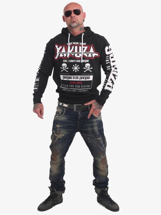Yakuza Bluzy z kapturem Guns Vs People czarny