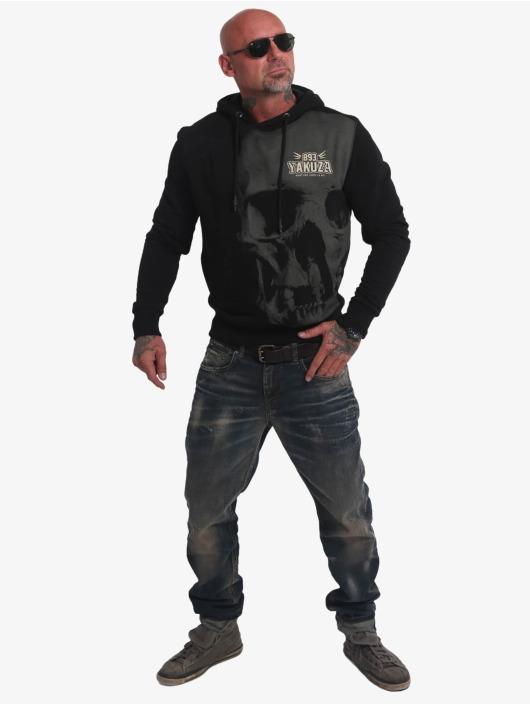 Yakuza Bluzy z kapturem Cuernos De Chivo czarny