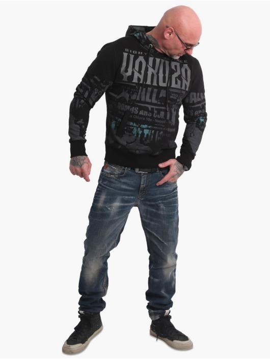 Yakuza Bluzy z kapturem Wallpaper czarny