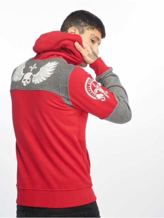 Yakuza Bluzy z kapturem Label Two Face czerwony