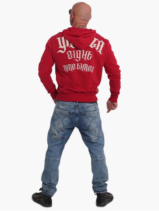 Yakuza Bluzy z kapturem Sick Skull czerwony