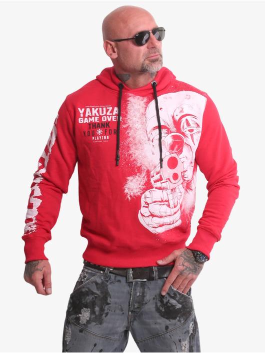 Yakuza Bluzy z kapturem Hating Clown czerwony