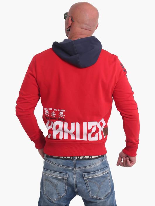 Yakuza Bluzy z kapturem Nippon893 Two Face czerwony