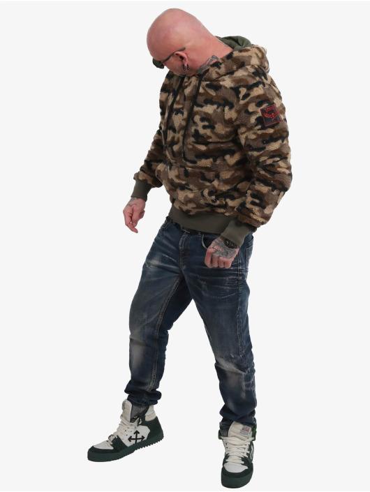 Yakuza Bluzy z kapturem Red Flag Sherpa moro