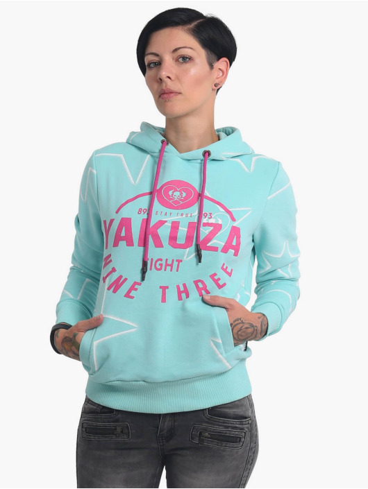 Yakuza Bluzy z kapturem 893Starlet Cropped niebieski