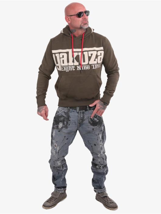 Yakuza Bluzy z kapturem Sf App oliwkowy