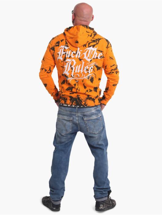 Yakuza Bluzy z kapturem Rules Batik pomaranczowy