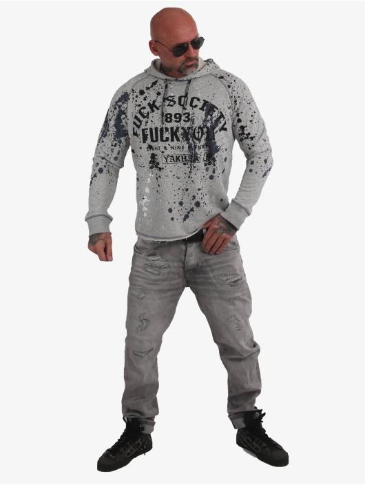 Yakuza Bluzy z kapturem Splash Lite szary