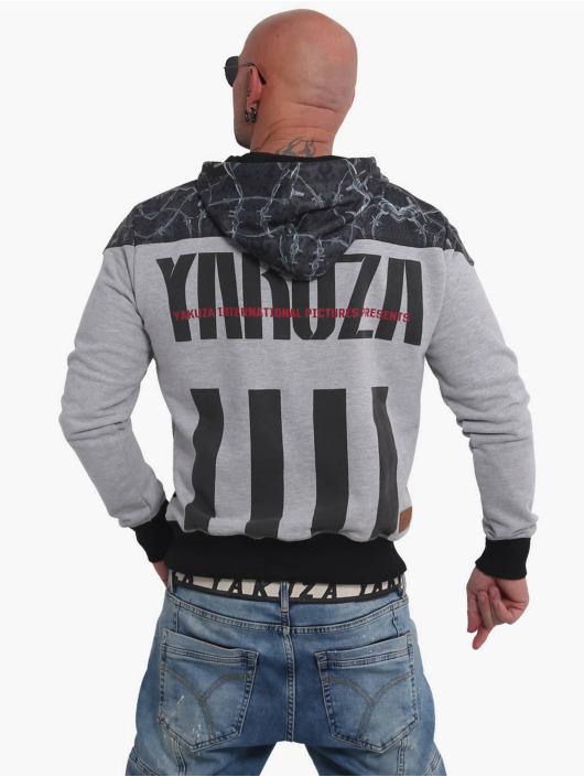 Yakuza Bluzy z kapturem Barbwire szary