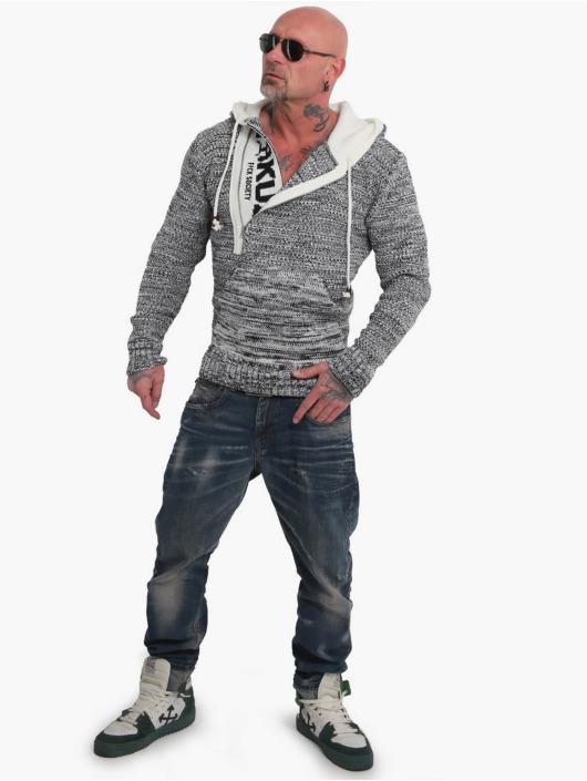 Yakuza Bluzy z kapturem Geep Knit szary