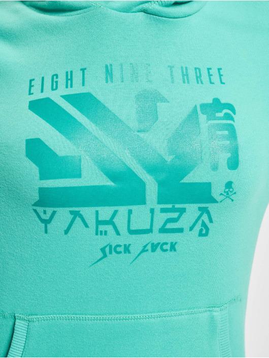 Yakuza Bluzy z kapturem Nondescript Nippon turkusowy