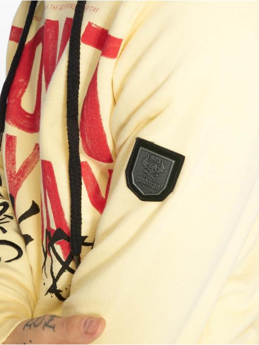 Yakuza Bluzy z kapturem Smile zólty