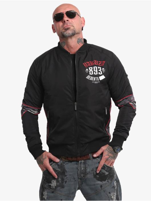 Yakuza Bomber jacket Memento Mori black
