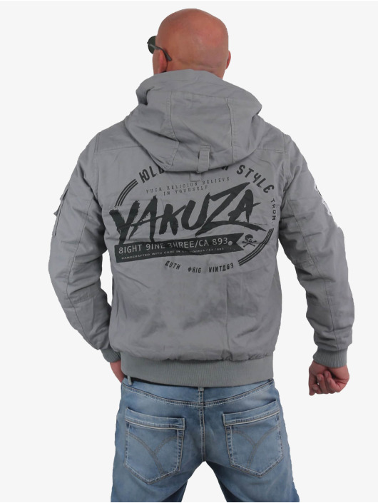 Yakuza Bomber jacket Old Fashion grey
