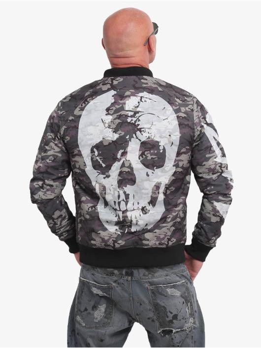Yakuza Bomberjacke Stealth Skull camouflage