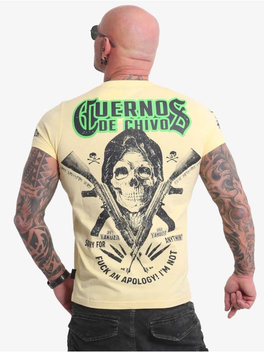 Yakuza Camiseta Cuernos De Chivo V02 amarillo