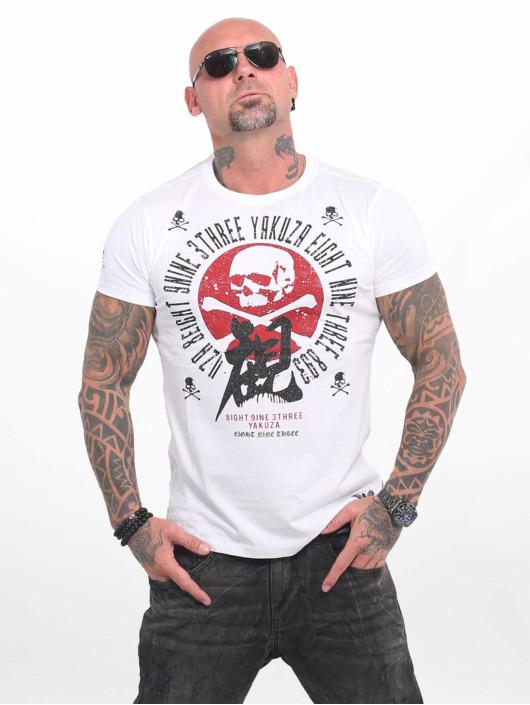 Yakuza Camiseta Nippon Skull blanco