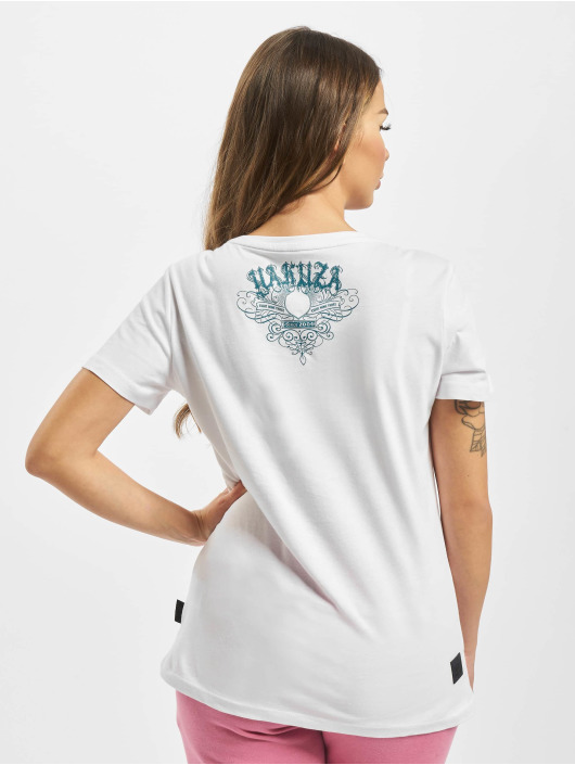 Yakuza Camiseta Massive V Neck blanco