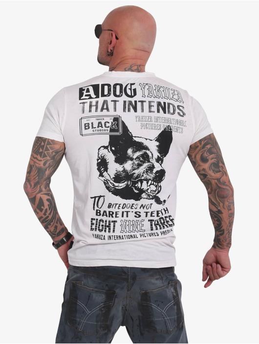 Yakuza Camiseta Dog Burnout blanco