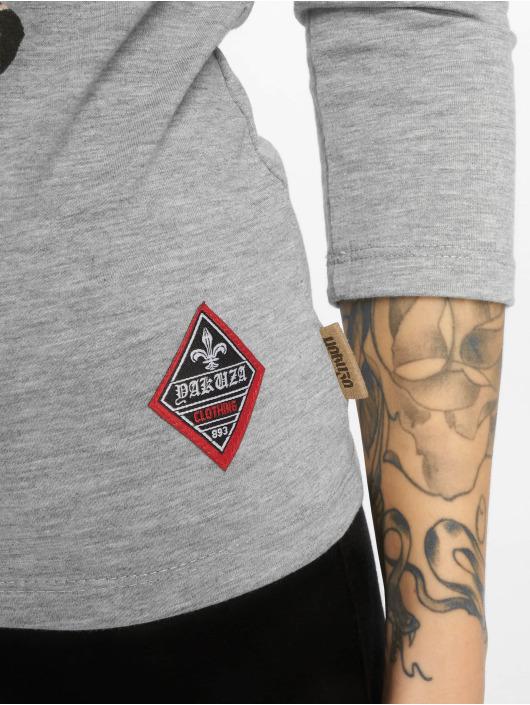 Yakuza Camiseta de manga larga Flying Skull Off Shoulder gris