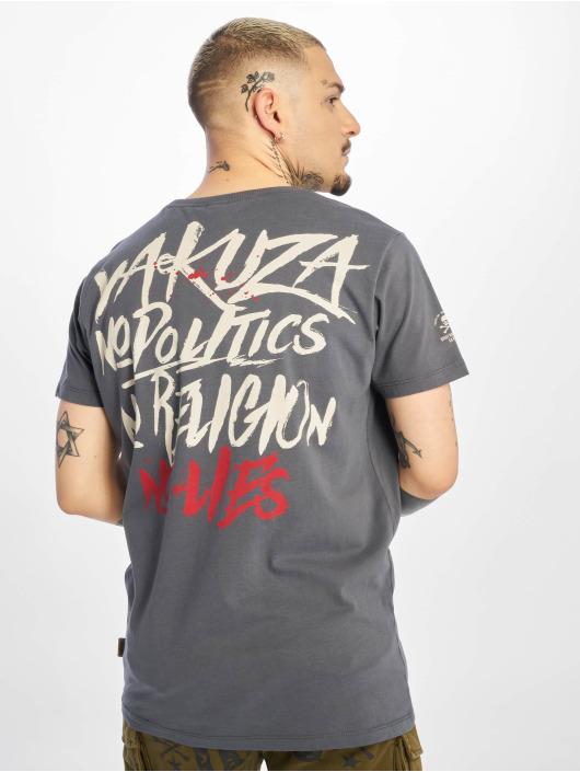 Yakuza Camiseta No No No gris