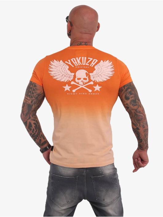 Yakuza Camiseta Batik Vintage naranja