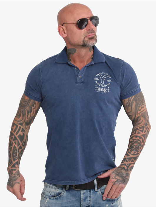 Yakuza Camiseta polo Muerte Logo Pikee azul