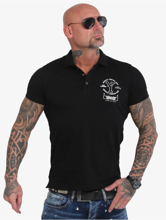 Yakuza Camiseta polo Muerte Logo Pikee negro