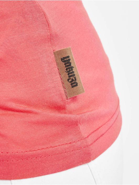 Yakuza Camiseta Basic Line Script V Neck rosa