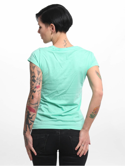 Yakuza Camiseta Basic Line Script V Neck turquesa