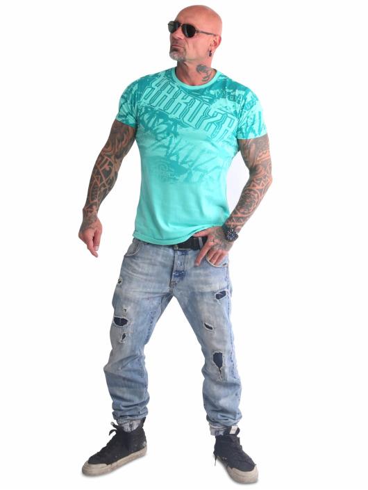 Yakuza Camiseta Life Allover turquesa