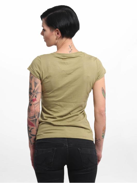 Yakuza Camiseta Basic Line Script V Neck verde
