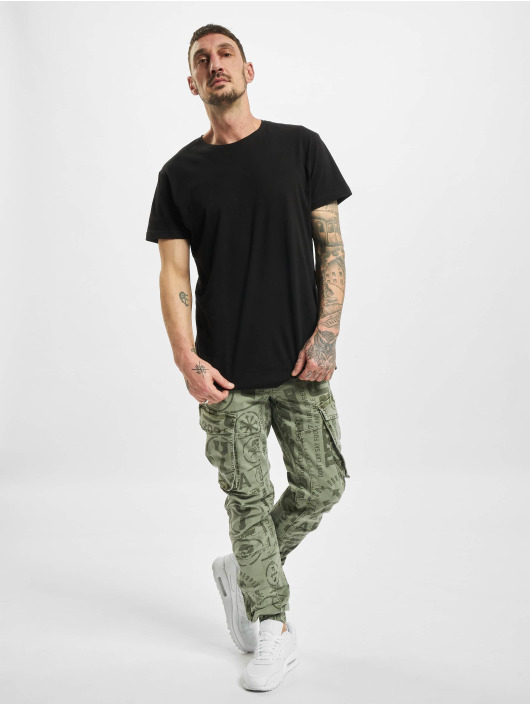 Yakuza Cargo pants Allover Pattern Grip olive