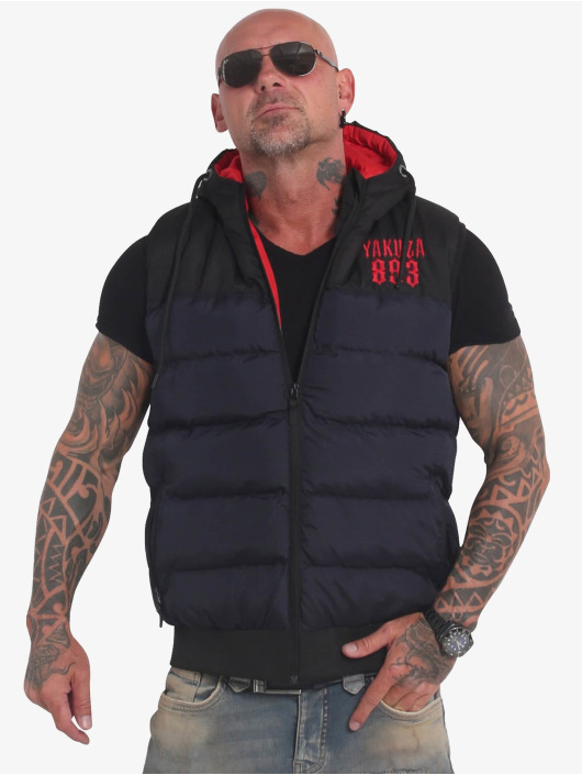 Yakuza Chaleco Fck Society Quilted Hooded azul