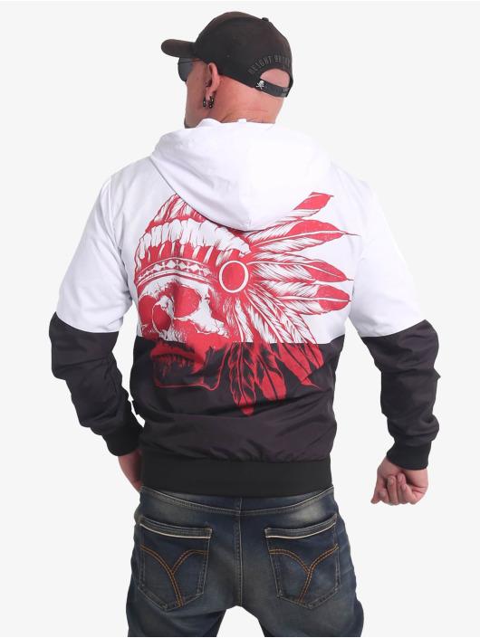 Yakuza Chaqueta de entretiempo Indian Skull negro