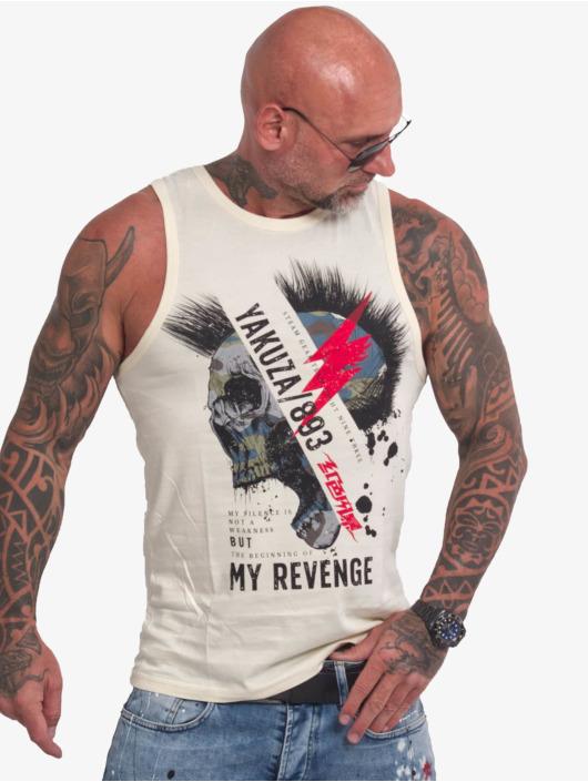 Yakuza Débardeur Skull Revenge beige
