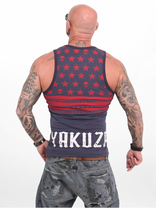Yakuza Débardeur Skulls N Stripes bleu