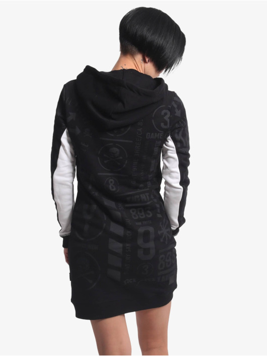 Yakuza Dress Allover Pattern Two Face black