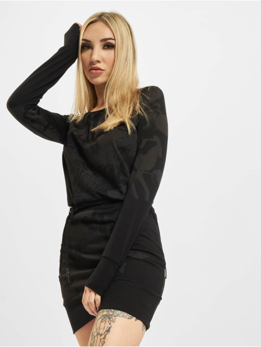 Yakuza Dress Florid black