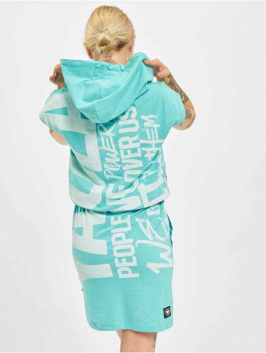 Yakuza Dress Power Hooded turquoise