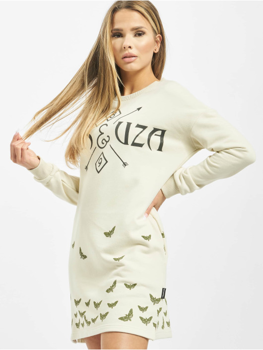 Yakuza Dress Moth Label white