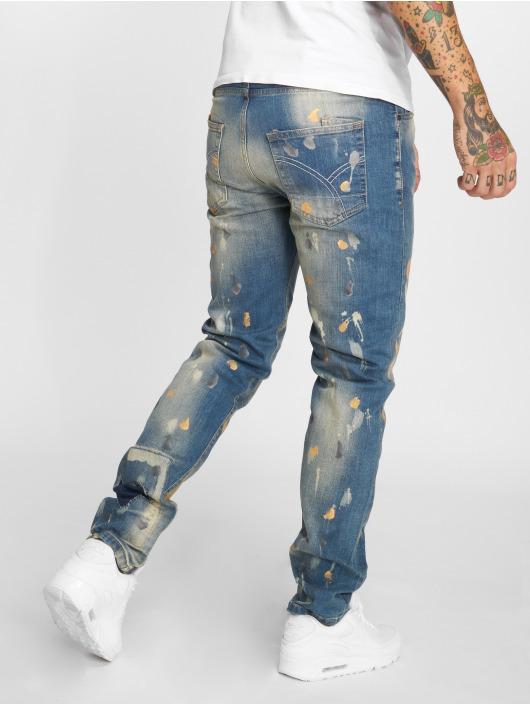 Yakuza Dżinsy straight fit 893 niebieski