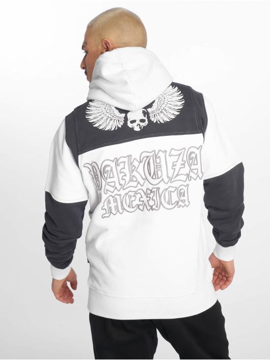 Yakuza Felpa con cappuccio Mexica Two Face bianco
