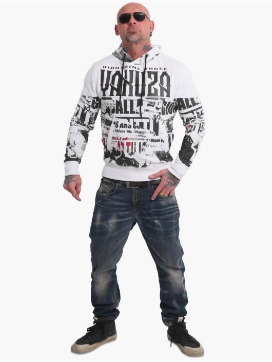 Yakuza Felpa con cappuccio Wallpaper bianco