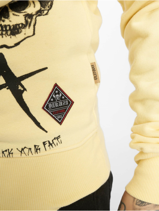 Yakuza Felpa con cappuccio Smile giallo