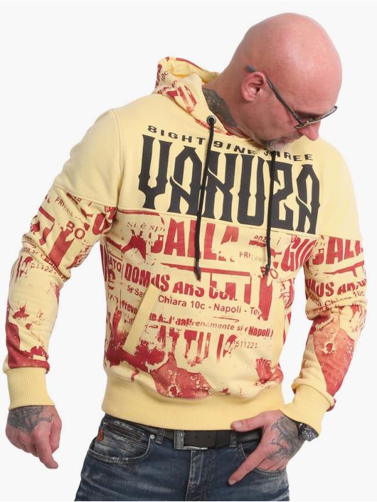 Yakuza Felpa con cappuccio Wallpaper giallo
