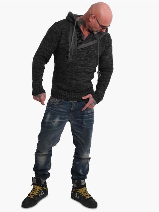 Yakuza Felpa con cappuccio Geep Knit grigio