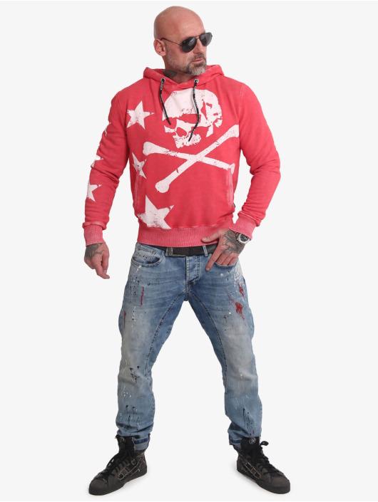Yakuza Felpa con cappuccio Overskulled Acid rosso