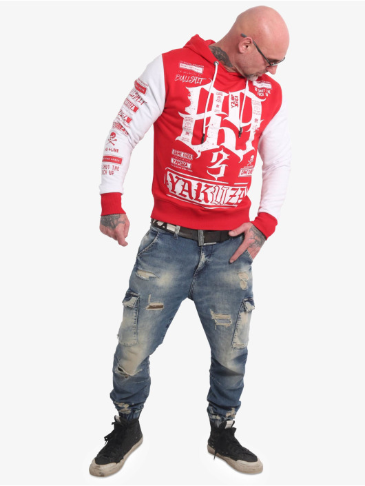 Yakuza Felpa con cappuccio Die Hard Two Face rosso