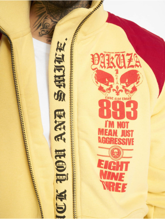 Yakuza Giacca Mezza Stagione Lily Skull Two Face Training giallo